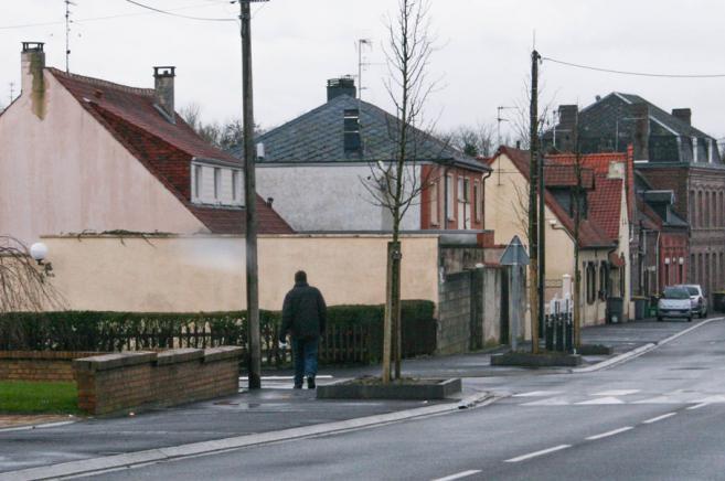 La silhouette de Laurent Serubuga, à Cambrai (Nord), le 28 janvier 2014.