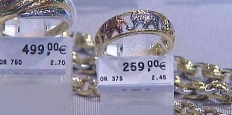 combien vaut une bague en or