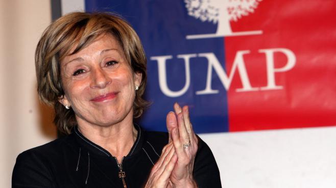 La maire UMP de Montauban, Brigitte Barèges, le 23 février 2011 à Rodez (Aveyron).