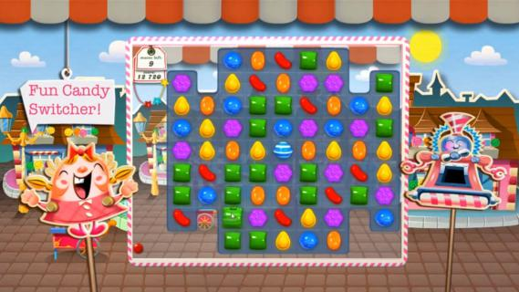 "... jeux King Digital Entertainment présentant le jeu ""Candy Crush Saga"