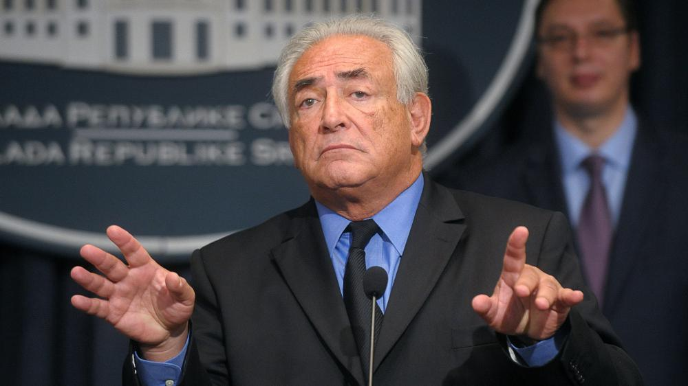 L'ancien directeur du FMI, Dominique Strauss-Kahn, le 17 septembre 2013, à Belgrade (Serbie).