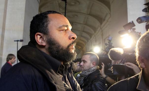 Dieudonné au tribunal de Paris, le 7 novembre 2011.