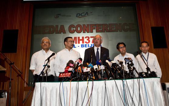 Le Premier ministre malaisien lors d'une conférence de presse à Kuala Lumpur, le 15 mars 2014.
