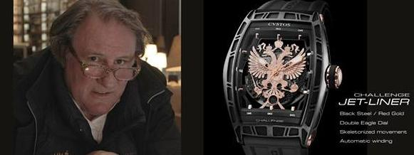 fier d 39 tre russe depardieu fait la pub d 39 une montre. Black Bedroom Furniture Sets. Home Design Ideas