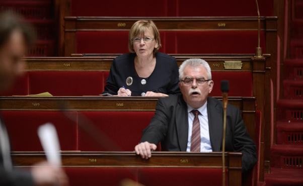 André Chassaigne, député communiste et président du groupeFront de gauche à l'Assemblée nationale (Paris), le 16 mai 2013.