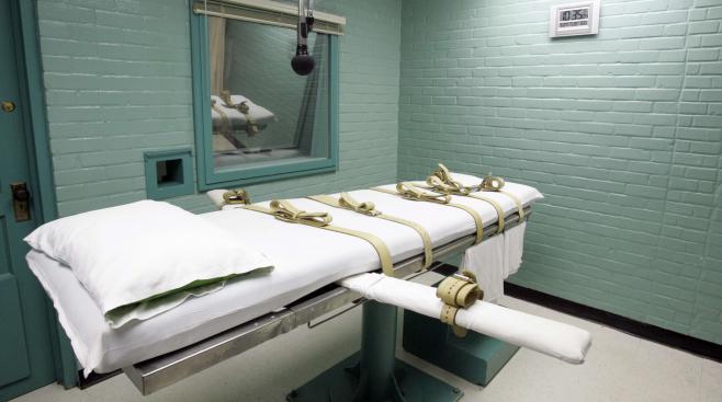 La chambre d'exécution de la prison de Huntsville, au Texas (Etats-Unis), le 27 mai 2008.
