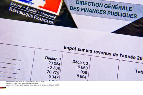 Avis d'impot sur le revenu, détail des revenus, ilustration en 2013