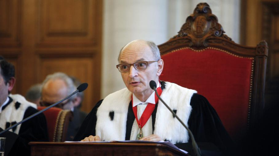 Didier Migaud, président de la Cour des comptes, lors de l'audience solennelle de rentrée de l'institution, à Paris, le 9 janvier 2014.