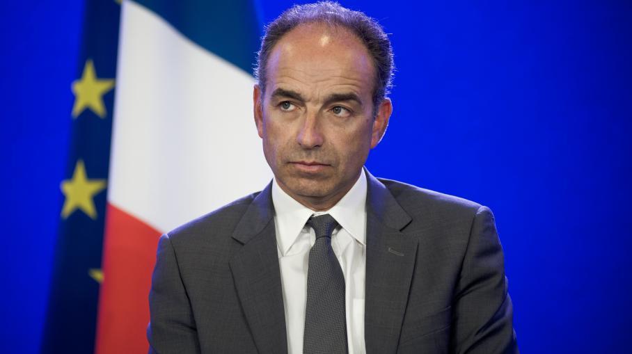 Le président démissionnaire de l'UMP, Jean-François Copé, lors d'une conférence de presse à Paris, le 24 avril 2014.