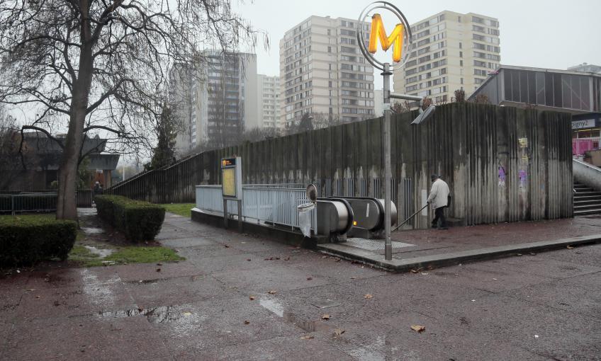 La stationPablo Picasso àBobigny (Saine-Saint-Denis), le 3 décembre 2013.