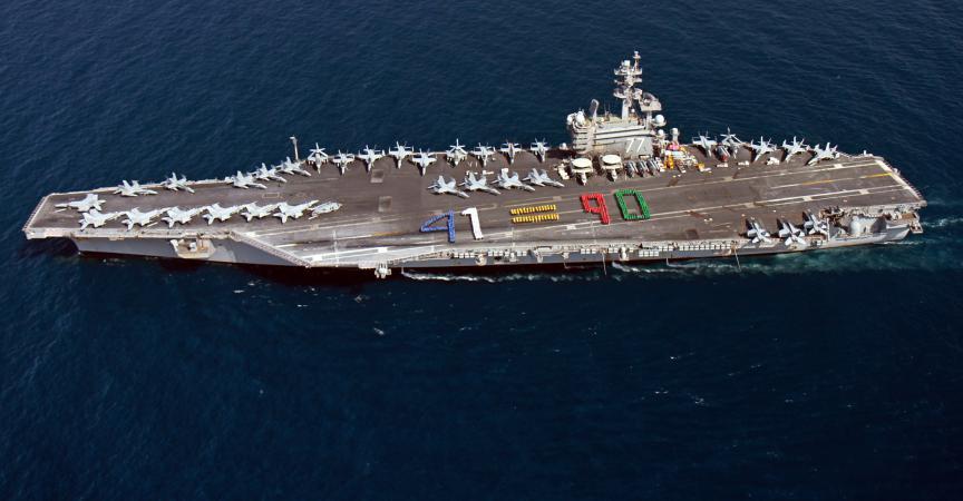 Irak un porte avions am ricain envoy dans le golfe persique - Liste des porte avions americains ...