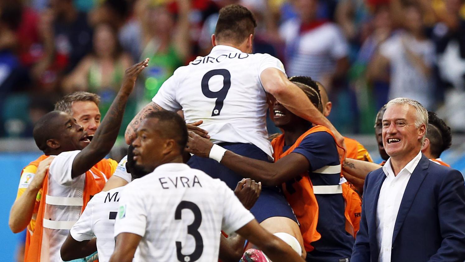 Coupe du monde revivez la victoire de la france sur la suisse 5 2 minute par minute - Jeux de foot match coupe du monde ...