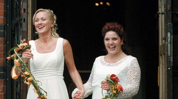 yvette ramirez et christina branting deux sueacutedoises lors de leur mariage agrave - Mariage Evangeliste