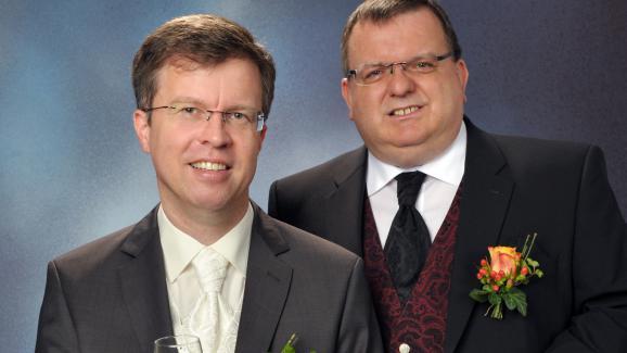 photo de mariage denbspruumldiger et christoph zimmermann premier couple allemand agrave - Mariage Evangeliste