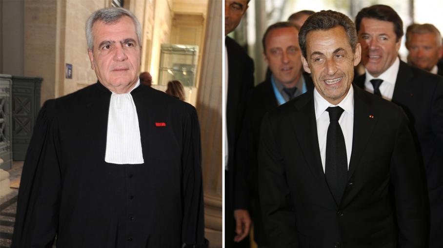Photomontage de Thierry Herzog (G), à Bordeaux, le 25 avril 2013, et Nicolas Sarkozy (D), à Nice, le 10 mars 2014.