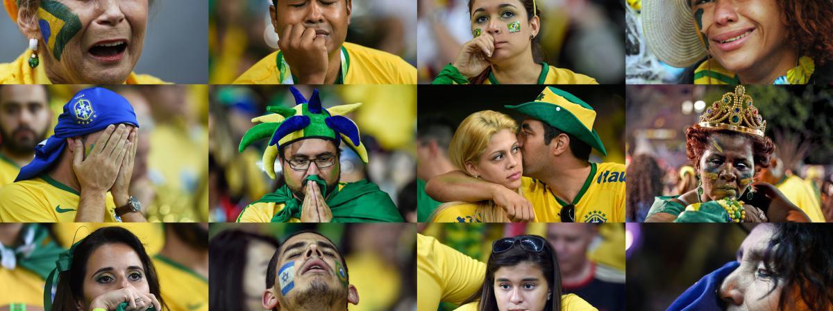 Mosa iuml que de supporters br eacute siliens apr egrave s la  d eacute faite de Mosaïque de supporters brésiliens ... d53a2346c355