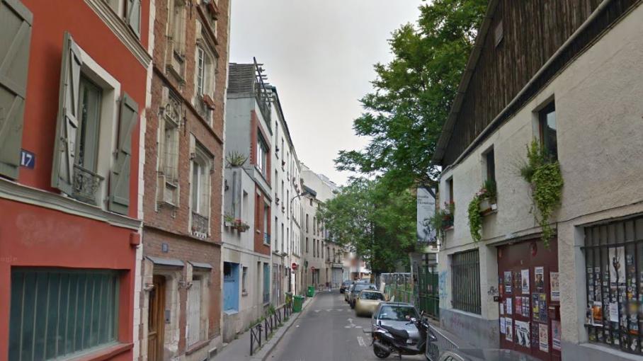 """Capture d'écran Google Street View de la rue de l'Ermitage, dans le 20e arrondissement de Paris, où aurait sévi """"l'étrangleur de Belleville""""."""
