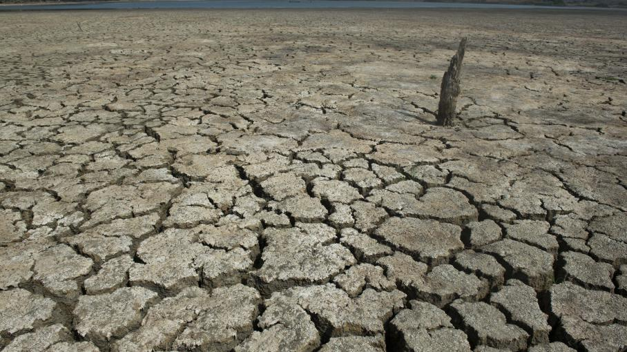 Le lacEl Cisne, en Colombie, lors d'une sécheresse, le 31 juillet 2014.