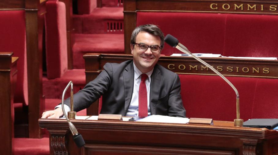 Le député PS de Saône-et-Loire Thomas Thévenoud, le 10 juillet 2014 à l'Assemblée nationale.