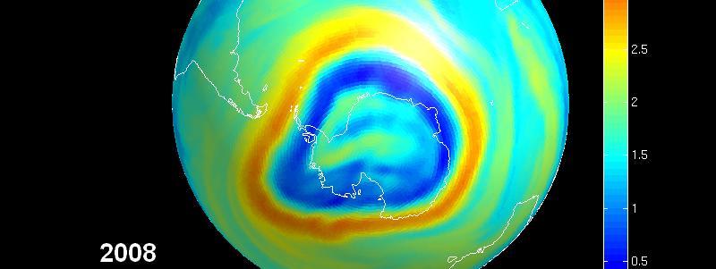 La couche d 39 ozone montre des signes de reconstitution - Trou dans la couche d ozone ...