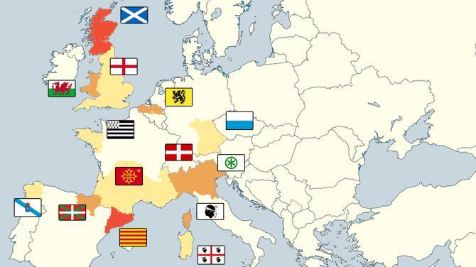 CARTE. Ecosse, Catalogne, Flandre l'Europe rêvée des