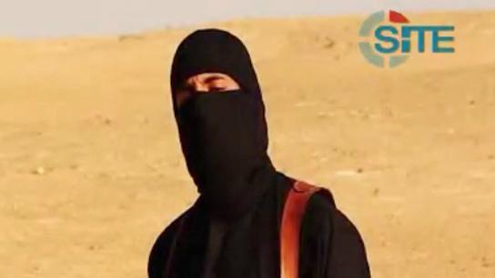 Capture écran d'une vidéo, publiée le 2 septembre 2014, montrant l'otage David Haines menacé par un membre de l'Etat islamique.
