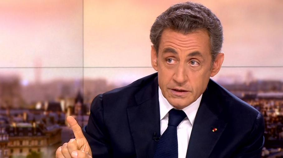 Nicolas Sarkozy, sur le plateau du journal de 20 heures de France 2, le 21 septembre 2014.