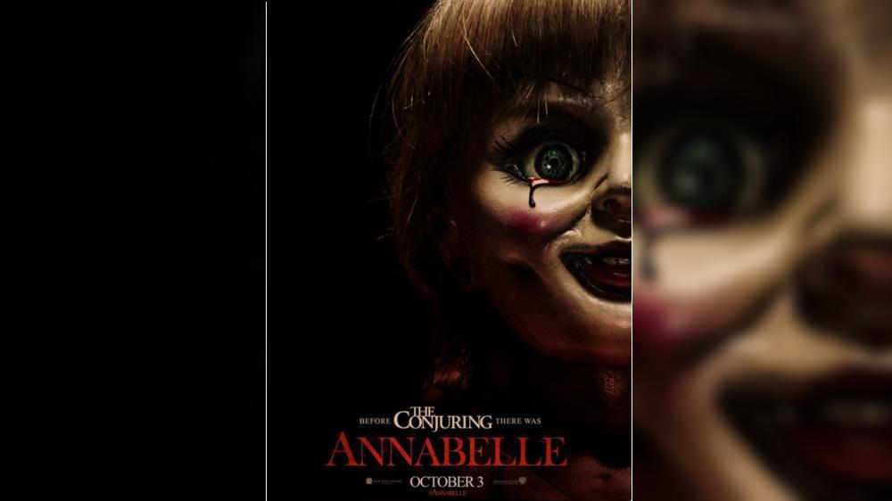 """L'affiche américaine du film """"Annabelle"""", sorti en France le 8 octobre 2014."""