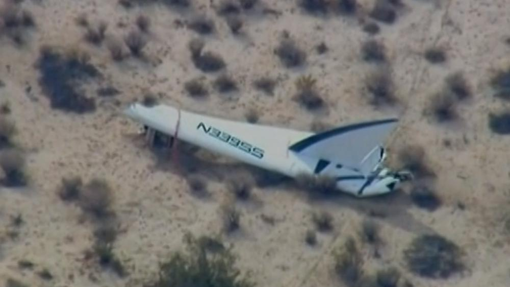 La vaisseau spatial SpaceShipTwo de Virgin Galactic s'est écrasé dans le désert californien du Mojave (Etats-Unis), vendredi 31 octobre.