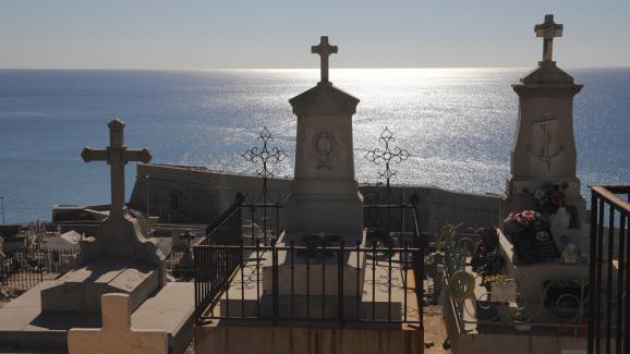 Le cimetière marin de Sète, dans l\'Hérault.