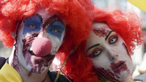 video clowns agressifs la fete d 39 halloween placee sous vigilance