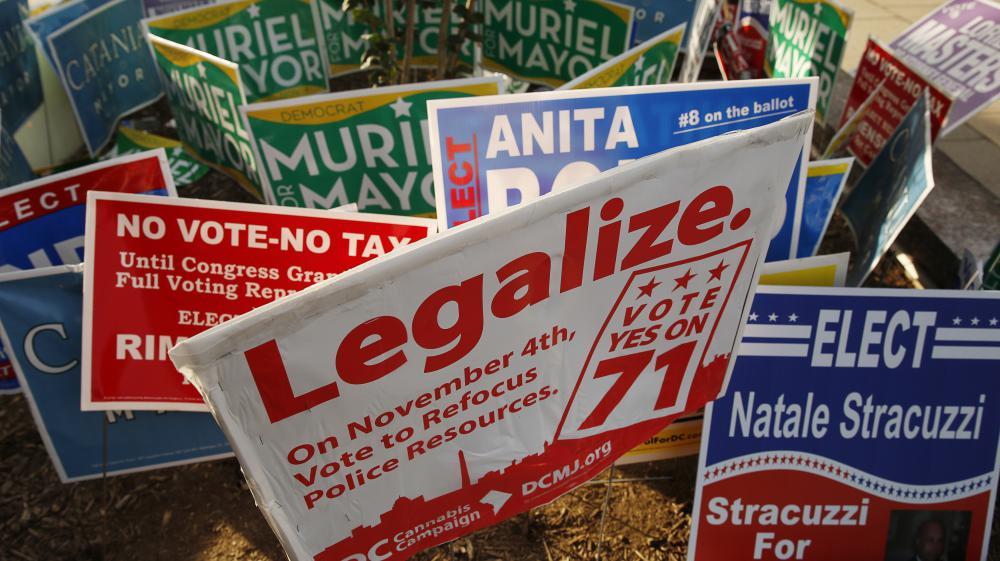 La campagne pour la légalisation du cannabis à Washington DC a porté ses fruits après les élections de mi-mandat le 4 novembre 2014.