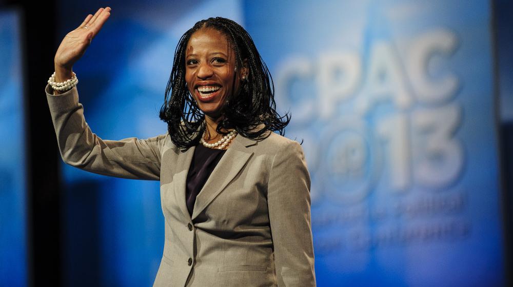 Mia Love, première femme noire républicaine élue au Congrès américain, dans le Maryland, le 16 mars 2013.