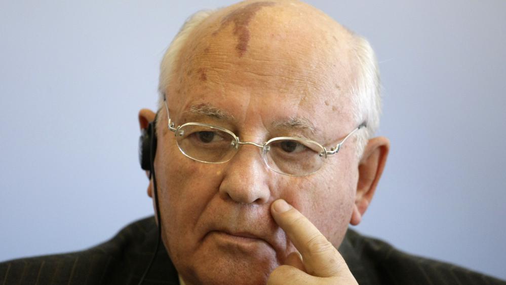 L'ancien dirigeant de l'Union soviétique, Mikhail Gorbatchev, le 3 juillet 2008 à Passau, en Allemagne.