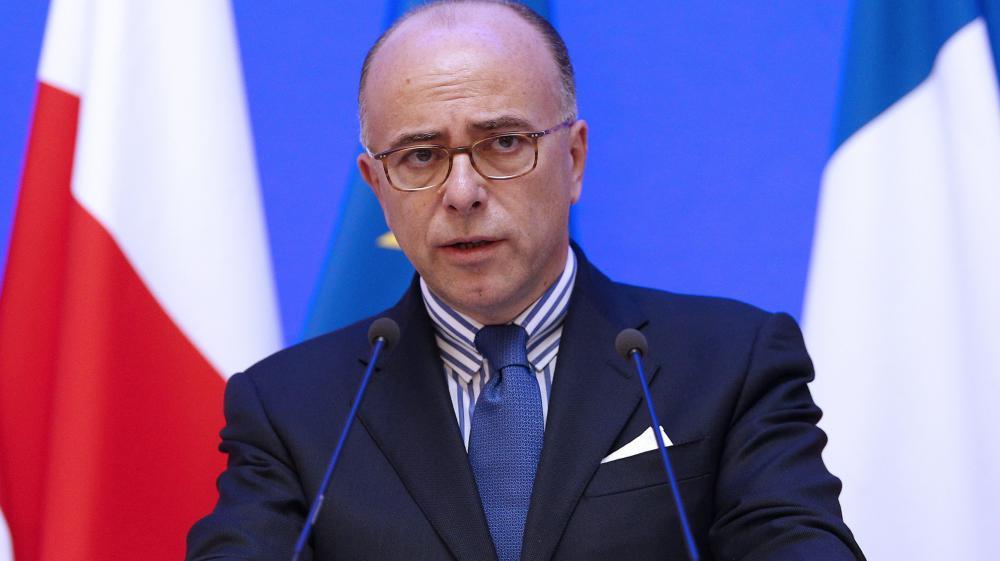 Le ministre de l'Intérieur Bernard Cazeneuve s'exprimelors d'une conférence de presse, le 6 novembre 2014, à Paris.