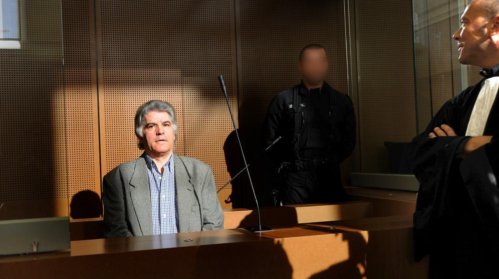Le criminel multirécidiviste Pierre Bodein, le 9 septembre 2008, au tribunal de grande instance de Colmar (Haut-Rhin).
