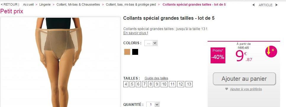 097d7b8e23e0a Capture écran du site de vente en ligne Blancheporte, le 14 novembre  2014