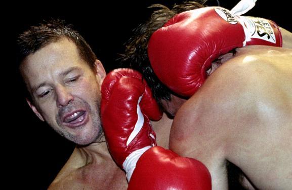 Mickey Rourke, le 20 novembre 1993 lors d'un match d'exhibition.