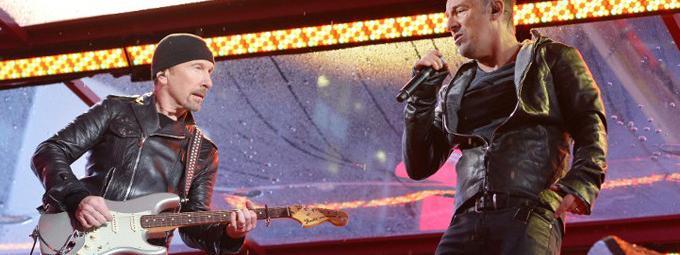 Concert De U2 Avec Springsteen Et Chris Martin Sida Ny 1er Dec 2014