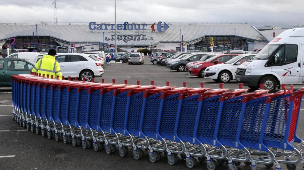 L'hypermarché Carrefour de Villiers-en-Bière (Seine-et-Marne), le 27 décembre 2013.