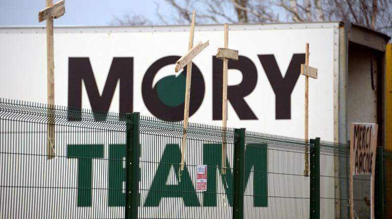 Le site du transporteur Mory Global, à Saint-Jacques-de-la-Lande, près de Rennes (Ille-et-Vilaine), le 28 janvier 2014.