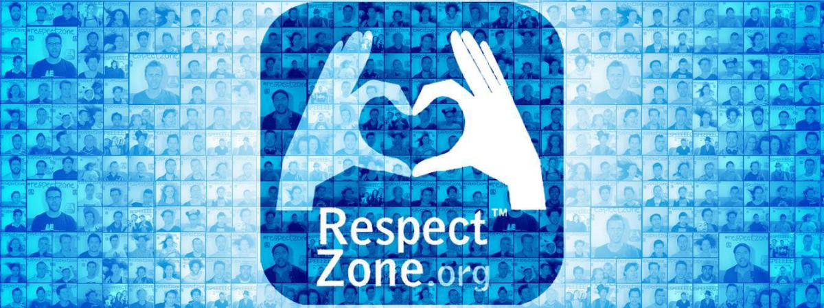 "Le logo du label ""Respect zone\""."