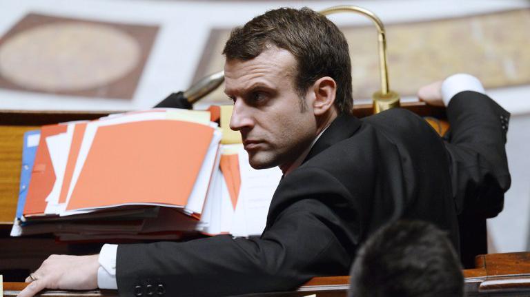 Le ministre de l'Economie, Emmanuel Macron, à l'Assemblée nationale, le 14 février 2015.