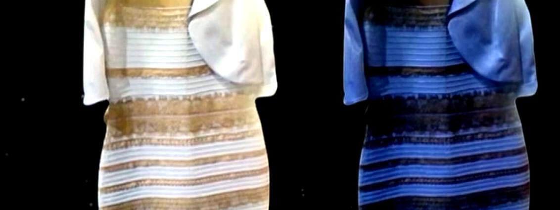41d932ab49f Bleue et noire ou blanche et dorée   La petite robe qui enflamme la ...