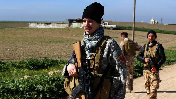 Brett Royales, 28 ans, a rejoint la milice chrétienneDwekh Nawsha, en Irak.Le voici dans la ville d'Al-Qosh, le 5 février 2015.