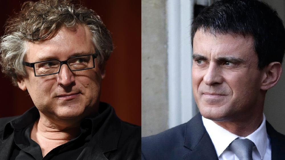 Michel Onfray et Manuel Valls se sont déchirés par médias interposés, les 8 et 9 mars 2015.