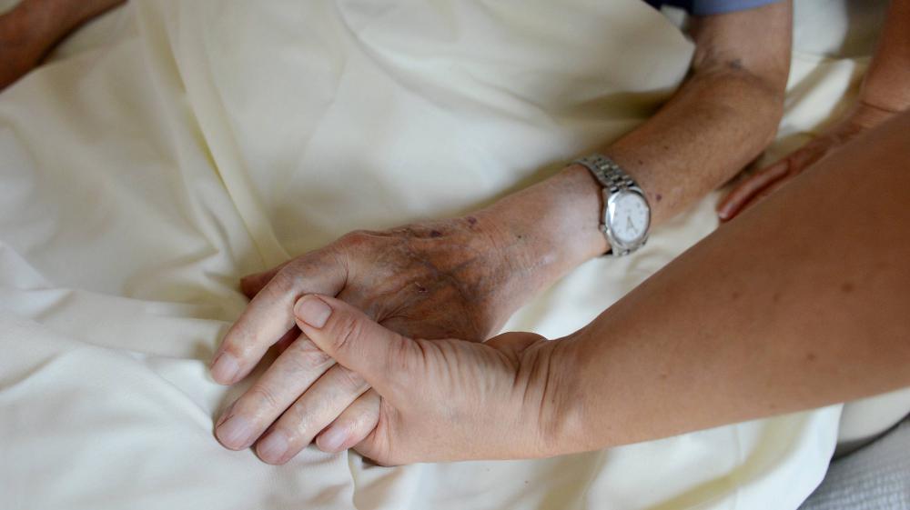 Dans l'unité de soins palliatifs de la clinique privée Saint-Laurent, à Saint-Grégoire, près deRennes (Ille-et-Vilaine), le 18 décembre 2012.
