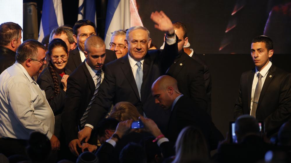 Le Premier ministre sortant, Benyamin Nétanyahou, le 17 mars 2015, à Tel-Aviv (Israël).