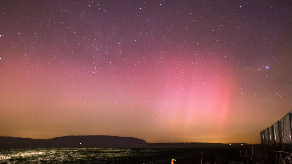 Une aurore boréale photographiée, mercredi 18 mars 2015, en Lorraine.