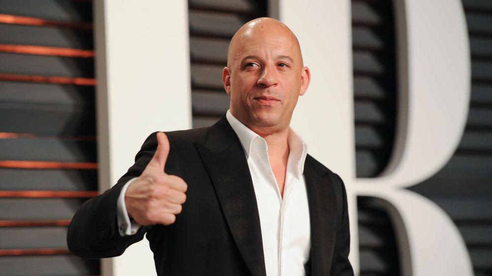 L'acteur Vin Diesel lors de la fête organisée par Vanity Fair après les Oscars, le 22 février 2015.